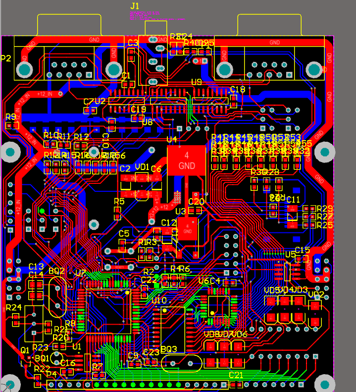 luggage office controller pcb 2d